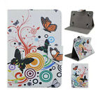 Folding Flip Butterfly Flower Printed Leather Case Cover For 9-10.5 Tablet PC