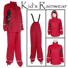 Kids Waterproof Bib & Brace Jacket Childrens Girls Dungarees Casual Rain Overall