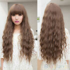 Classic Fashion Womens Lady Long Curly Wavy Hair Full Wigs Cosplay Party Wigs