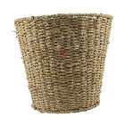 TAPERED ROUND SEAGRASS WASTE PAPER BASKET BIN STORAGE HOME BEDROOM OFFICE NEW
