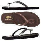 Womens Girls Rocket Dog Oralee Serpentine Flip Flops Black Bronze