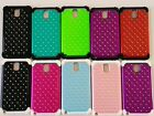 Samsung Galaxy Note III 3 HYBRID STUDDED DIAMOND BLING PROTECTIVE COVER CASE