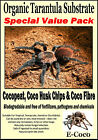 SPIDER BEDDING, SUBSTRATE, SOIL SPECIAL PACK FOR TARANTULAS BOX, TANK, VIVARIUM