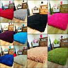 NEW SMALL X LARGE MODERN THICK HIGH 6CM PILE HEAVY COLORFUL SOFT SHAGGY AREA RUG
