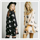 2015 spring new women sexy casual backless embroidery loose BOHO dress