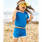 Little Bird Young Girls by Jools Blue Towlling Hooded Playsuit