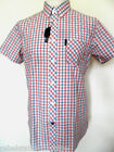 BEN SHERMAN Shirt Men's S/S Check Shirt B/D Collar Pink/White/Blue Size: Small