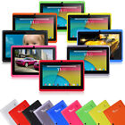 7 Quad Core Tablet PC 8GB Android 4.4 HD Dual Camera WiFi 3D Game Refurbished