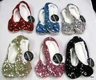 Snoozies Bling Ballerina Metallic Women's Slippers Non Skid Soles Fleece Lining