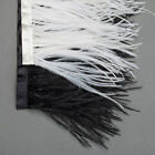 Neotrims Real Ostrich Feather Quality Fur Satin Ribbon Trimming Fringe 9-11 cm