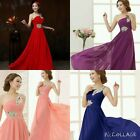 UK Long Formal Evening Bridesmaid Prom Party Cocktail Maxi Dress Gown NO.3