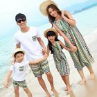 Summer New Family clothes Mother Girls Dress, Father boys t shirt+Pants sets