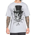 SULLEN DIAMONDS AND STONES GREY TATTOO MENS T SHIRT SKULL TOP HAT JUAN GARCIA