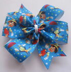 Pinocchio & Jiminy Cricket - Disney Pinwheel Bow, Clips Or Bobbles Blue