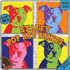 Staffy Dog Large Canvas Art Prints. Pop Art Animal Lover Decor Pet Fun Gift
