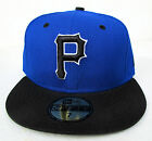 Pittsburgh Pirates Blue On Black All Sizes Fitted Cap Hat by New Era