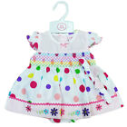 BABY GIRL SPOTTY DRESS ROCK A BYE BABY FLOWER BABIES OUTFIT NEW 0-9 MONTH