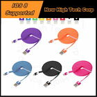 5x 10FT Flexible Noodle Style USB Data Sync Charger Cable Cord Fit iPhone 6 Plus