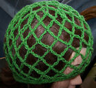 New Hand Crochet Open Fishnet Mesh Beanie Cap Cloche Hat Snood