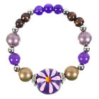 Expandable Purple Colour Bead Bracelet
