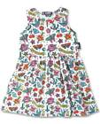 Six Bunnies Flash Tattoo Girls Kids Dress Rockabilly Pinup Skull Sparrow Cherry