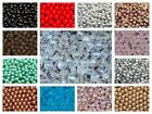 CHOOSE COLOR! 50pcs 6mm Czech Glass Round Pressed Beads $4.23 USD