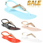 RETRO JELLY SANDALS LADIES WOMENS FLAT BEACH SUMMER GIRLS FLIP FLOPS SHOES SIZE