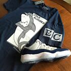 Shirt to match Jordan Retro 11 Georgetown lows. Cold Blooded Tee