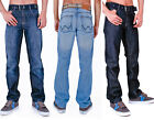 Mens AZTEC T&H Classic Fit Jeans With Belt Lightwash Darkwash Rinsewash 30 -40