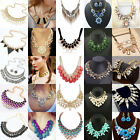 Retro Women Charm Chain Statement Pendant Chunky Collar Necklace Choker Bib Gift