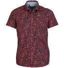 Duck & Cover HAWKINS S/S Mens BNWT SHIRT Red
