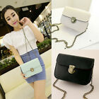 Women Chain Square Retro Clutch PU Leather Handbag Messenger Shoulder Bag