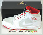 2015 Nike Air Jordan 1 Mid WB Hare White Red Bugs Bunny Warner Bros 719551-123