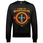 9248 I Aim To Misbehave Sweatshirt Serenity Firefly Browncoat Blue Sun Corp