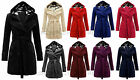 Womense Fleece Duffle Style Trench Regular Plus Size Warm Comfortable Parka Coat