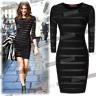 Black Celeb Bandage Boutique Bodycon Evening Party Dress Clubs Wears Size 810246