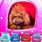 Soft Strawberry Pet Dog Bed House Kennel Cat Doggy Warm Cushion puppy Basket bed