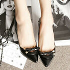 Korean Womens Bowknot Sweet Pointed Toe Wild OL High Heels Shoes Solids New 1m2