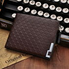Men Wallet With Zipper Leather Soft Trifold Wallets For Men