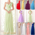 One-Shoulder Bridesmaid Dress Party Prom Evening Formal Long Wedding Gowns 6-26