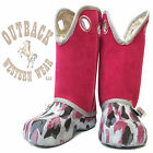 Ugly Kracomucker Kids Hot Pink Sueded with Camo Boots UKG106