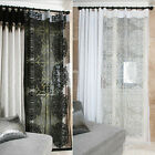 Handmade Romantic Black White Classic Lace Sheer Net Voile Curtain Drapery Panel