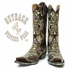 Old Gringo Olivia Brass Boots in Green L1629-1