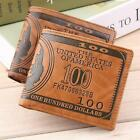 Mens Leather Bifold Wallet Credit/ID Card Photo Holder Slim Coin Purse Good Q