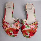 """Impo Floral Sandal Open Toe Heel Colorful Cruise 2.5"""" Summer 6.5 7.5 8 8.5 10"""