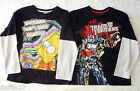 Boys Licensed Transformers,Bart The Simpsons Long Sleeve Top T-Shirt  Size 7-14