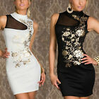 Womens Lady Evening Dress Ball Clubwear Floral Wedding Prom Formal Bodycon Gown