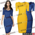 New Women Elegant Office Style Bodycon Evening Party Casual Pencil Dresses 81024