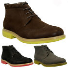 MENS FAUX SUEDE LACE UP CASUAL FORMAL ANKLE DESERT BROGUE BOOTS SHOES SIZE 6-12