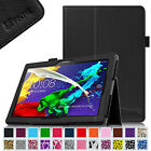 "Folio PU Leather Case Cover for Lenovo Tab 2 A10 10""-Inch A10-70 Android Tablet"